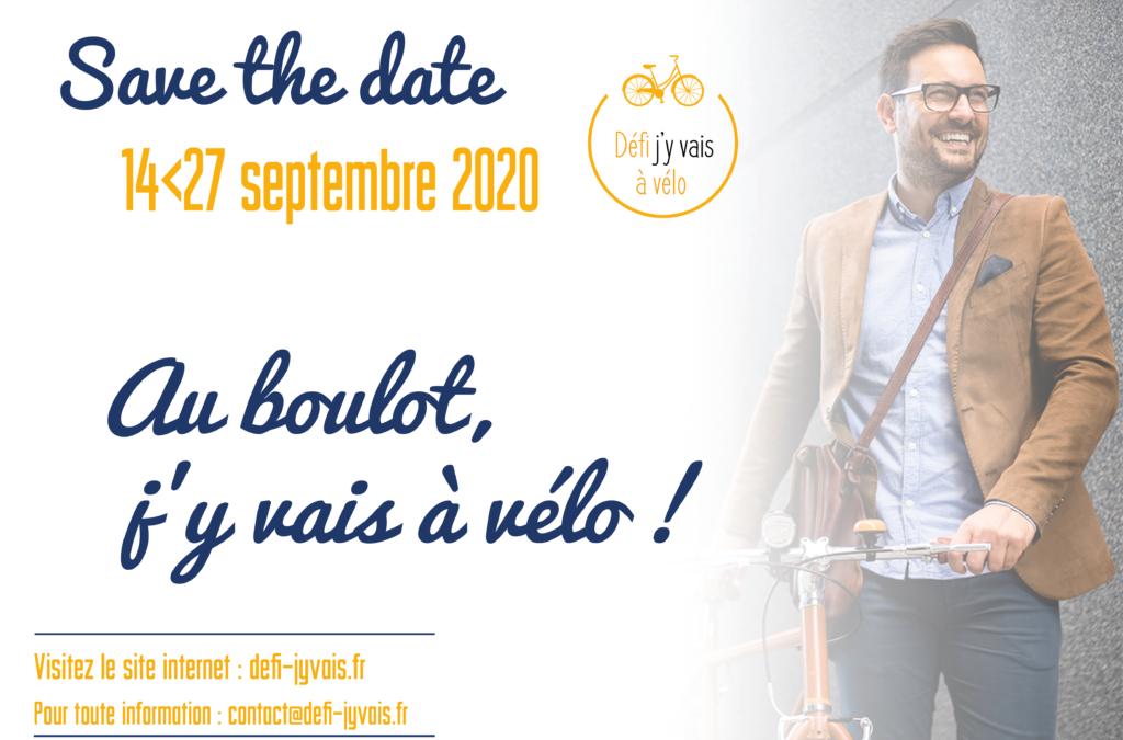 Defi – J'y vais à vélo, du 14 au 29 septembre, 2020