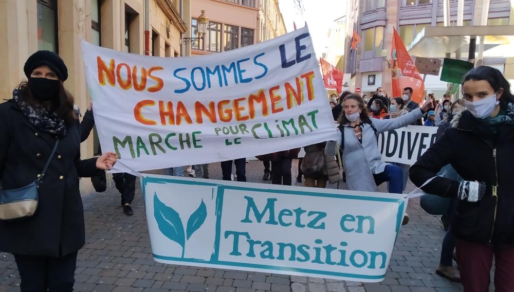 Ce 20 mars, plus de 1000 personnes ont marché pour une vraie loi climat à Metz